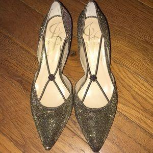 J. Renée    Sparkly Glitter Veeva Pointed Toe heel